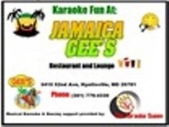 Karaoke Fun at Jamaica Gee's
